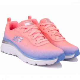 Кроссовки skechers fashion fit - build up 12717 pklv (kw4702) pink текстиль