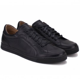 Кроссовки wishot(t) 658-bk/bk 40(р) black/black 100% кожа