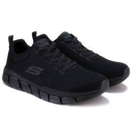 Кроссовки skechers relaxed fit 52843 bbk (km3068) 44(10,5)(р) black/black текстиль