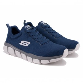 Кроссовки skechers relaxed fit 52843/nvgy(km3069) 41(8)(р) navy/grey текстиль
