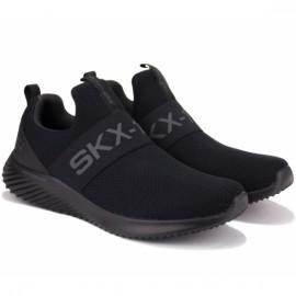 Кроссовки skechers bounder wolfston 52506/bbk (km3094) 41(8)(р) black текстиль