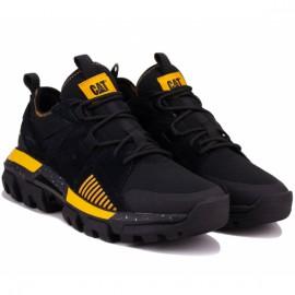 Кроссовки caterpillar raider sport p724513 black/yellow замша