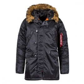 Alpha industries slim fit n-3b parka mjn31210c1 s(р) replica blue/orange нейлон