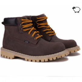 Steel 052ocw-brn 37(р) ботинки brown 100% кожа шерсть