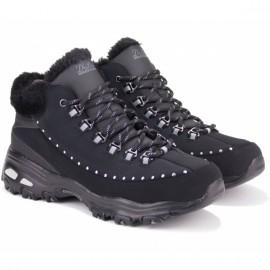 Ботинки skechers dlites 48813 blk (kw5130) 38(8)(р) black нубук