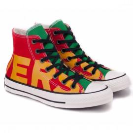 Converse chuck taylor all star converse hi 159534c 42(р) кеды enamel red/yellow/egret материал