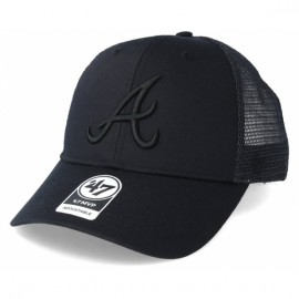 47 brand branson trucker cap atlanta braves brans01ctp-bk os(р) кепка black материал