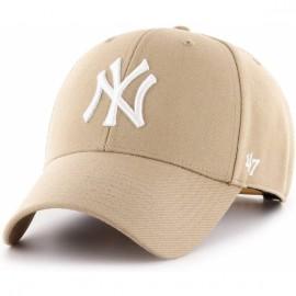 Кепка 47 brand mvp new york yankees b-mvpsp17wbp-kh beige акрил
