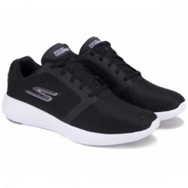 Skechers gorun 600 refine 55061bkw (km2776) 43,5(10)(р) кроссовки black white материал