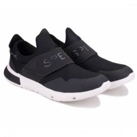 Sperry 7 seas slip on sts17682 44(10,5)(р) кроссовки black/white материал