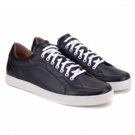 Wishot(t) 3658-bk 40(р) кроссовки black 100% кожа