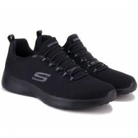 Кроссовки skechers dynamight 58360/bbk(km3059) 41(8)(р) black/black текстиль
