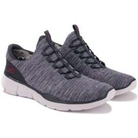 Кроссовки skechers relaxed fit 52928/char(km3084) 41(8)(р) grey текстиль