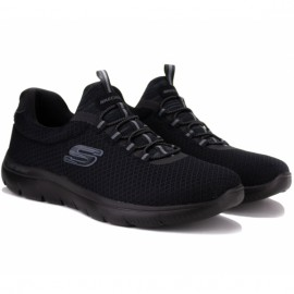 Кроссовки skechers summits 52811 bbk (km3444) 46(12)(р) black текстиль