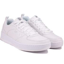 Кроссовки skechers sport court 237188 wht (km3866) white кожа