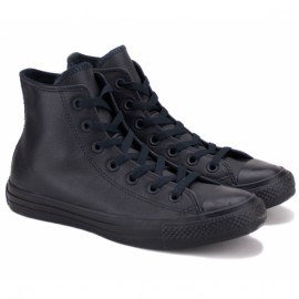 Converse chuck taylor all star hi black mono 135251c 37(4,5)(р) кеды black/black 100% кожа
