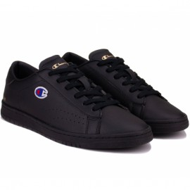 Кроссовки champion court club patch s21585-f20-kk001 black кожа