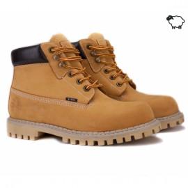 Steel 052ocw-yel 44(р) ботинки yellow 100% кожа мех