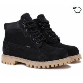 Steel 052on-blk 43(р) ботинки black 100% кожа мех