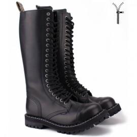 Steel 139/140oz-blk 44(р) ботинки black 100% кожа