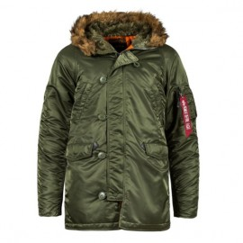 Alpha industries slim fit n-3b parka mjn31210c1 l(р) sage/orange нейлон