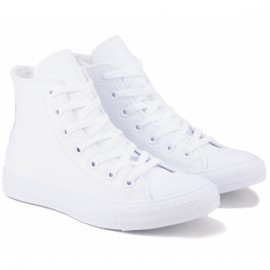 Кеды converse chuck taylor all star hi top monochrome 1t406 36(3,5)(р) white 100% кожа