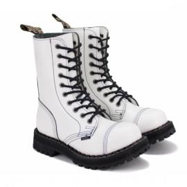Ботинки steel 105/106o-fw 37(р) full white 100% кожа