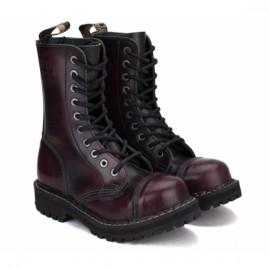 Ботинки steel 105/106o-br 46(р) bordo 100% кожа