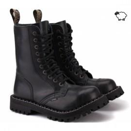 Steel 105/106on-blk 44(р) ботинки black 100% кожа мех