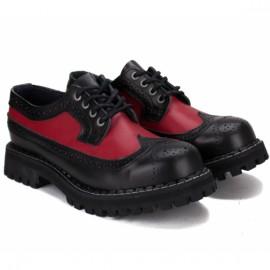 Туфли steel 112o-b/r 42(р) black/red 100% кожа