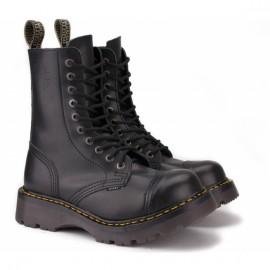Steel 115/116o-blk 40(р) ботинки black 100% кожа
