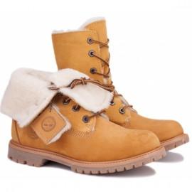 Timberland 61672 37(6)(р) ботинки yellow нубук/нат мех