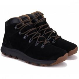 Ботинки timberland world hiker mid a1qfl 43(9)(р) black замша
