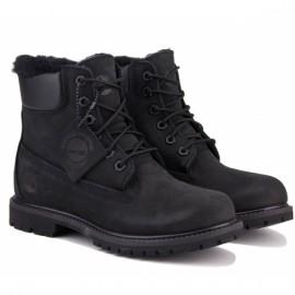 Ботинки timberland 6 inch shearling tboa1u7s (tg2343) 38(7)(р) black нубук