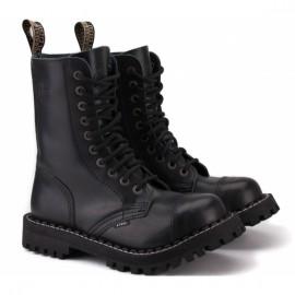 Steel 105/106on-blk 37(р) ботинки black 100% кожа мех