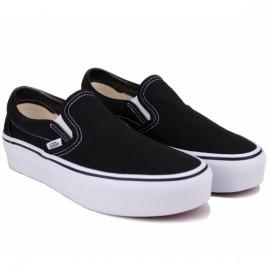 Слипоны vans classic slip-on platform vn00018eblk1 black текстиль