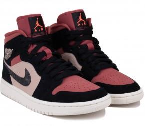 Кроссовки Nike Air Jordan 1 Mid BQ6472-202 Burgundy Dusty