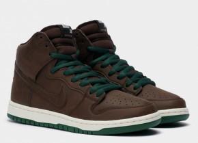 Кроссовки Nike SB Dunk High Pro CV1624-200 Brown Кожа