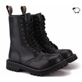 Steel 105/106ocw-blk 38(р) ботинки black 100% кожа шерсть