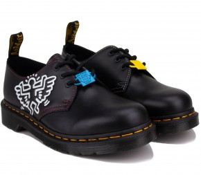 Туфли Dr. Martens Keith Haring 1461 Smooth 26834001 Black