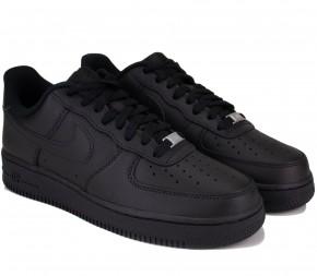 Кроссовки Nike Air Force 1 07 CW2288-001 Black Кожа