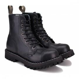 Ботинки steel на 8 дыр 127/128ocw-blk 38(р) black 100% кожа