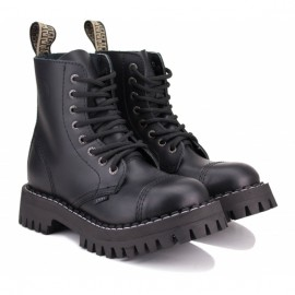 Ботинки steel 113/114/om/b на 8 дырок 36(р) black 100% кожа