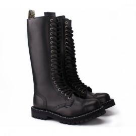 Ботинки steel 139/140o-blk на 20 дыр 36(р) black кожа