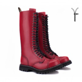 Ботинки steel 139/140oz-fr на 20 дыр 41(р) full red кожа