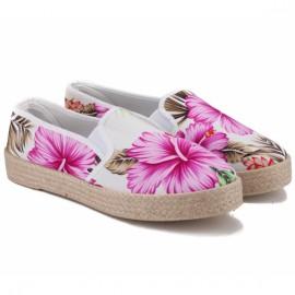 Wishot 32-127d-pi/fl 39(р) слипоны с цветочками pink/flower текстиль