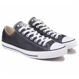 Converse chuck taylor all star leather low 132174c 42(8,5)(р) кеды black 100% кожа
