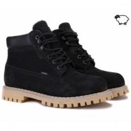 Steel 052ocw-blk 38(р) ботинки black 100% кожа шерсть