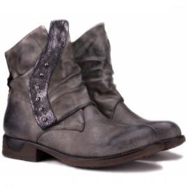 Wishot bt-911-gr 36(р) ботинки grey кожа