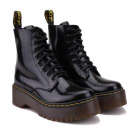 Ботинки wishot 401-301-blk-s 36(р) black кожа